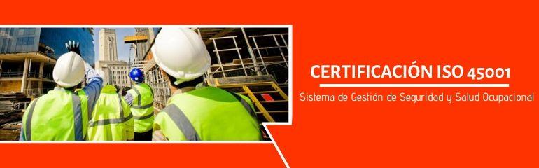 Certificación ISO 45001, Certificación ISO 45001